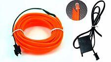 Ambientebeleuchtung EL Lichtleisten Neon Ambiente Innenraumbeleuchtung Orange 2m