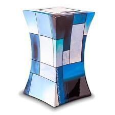 Glass Fibre (Adult) Cremation Ashes Urn - Lantern Design in Multicolour Blue