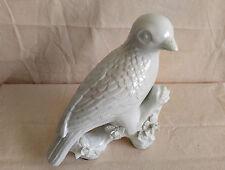 White Porcelain Bird Ceramic Large Figurine Сrow Statue Sculpture Home Decor