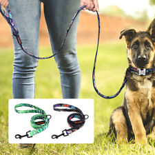 Dog Leash Large Dogs Strong Pet Puppy Walking Leash for Labrador Pit Bull Black
