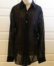 Due per Due - Black sheer evening blouse - Size 14