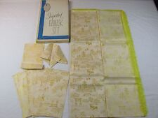 Vintage Imported Damask Tablecloth Napkin Set Beautiful Mid Century 8 Napkins