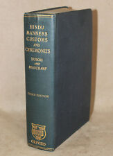 """Antique Book: """"Hindu, Manners, Customs and Ceremonies"""" by Abbe A.J. Dubois, 1924"""