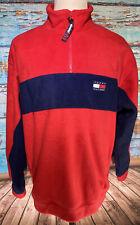 Vintage Tommy Hilfiger Fleece Pullover Jacket Size XL Red...