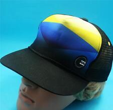 BILLABONG MENS Boys Hat Black Yellow Surf Trucker Skate Cap One Size New