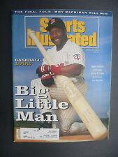 Sports Illustrated April 6, 1992 Kirby Puckett Twins MLB NCAA Michigan Apr '92 A