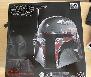 Hasbro Star Wars The Black Series Boba Fett Premium Electronic Helmet Roleplay