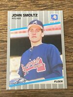Vintage 1989 Fleer GLOSSY #602 JOHN SMOLTZ RC Atlanta Braves HOF RARE NrMt/Mt SP