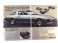 1979 Mazda RX7 Vintage Print Ad  Automobile Car
