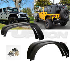 STEEL FLAT 4PCS FENDER FLARES BLACK TEXTURED FINISH FOR 07-17 JEEP WRANGLER JK