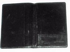 LUFTHANSA AIRLINE PASSPORT HOLDER BLACK PATTEN LEATHER VINTAGE 1980's