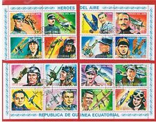 Equatorial Guinea 1974 Aviation Heroes  Free S/H