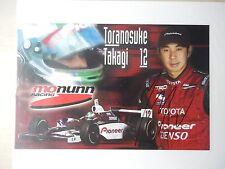 """Toranosuke Takagi Autographed 8 1/2"""" X 5 1/2"""" Photo Slick"""