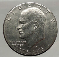 1976 President Eisenhower Apollo 11 Moon Landing Dollar USA Coin Denver  i46206