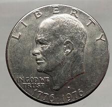 1976 President Eisenhower Apollo 11 Moon Landing Dollar USA Coin Denver  i46206