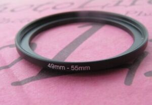 49mm to 55mm Stepping Step Up Filter Ring Adapter 49mm-55mm