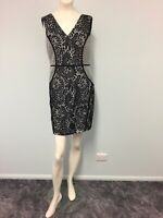 BNWT Mirage black white features lace dress size 10 womens work casual cocktail