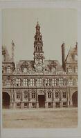 Hôtel Ayuntamiento De París Fachada Carte de visite CDV Foto Vintage Albúmina