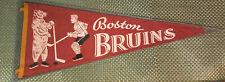 Rare Boston Bruins Vintage 1950s Pennant