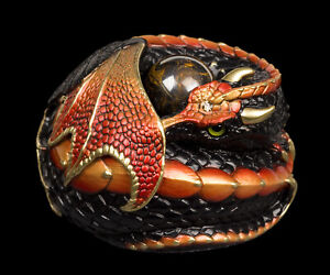 """Windstone Editions """"Black Rust"""" Curled Dragon Test Paint #1"""
