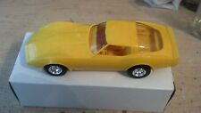 1980 Yellow Chevrolet Corvette Plastic Dealership Model New Old Stock