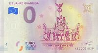 BILLET 0  EURO 225 JAHRE QUADRIGA ALLEMAGNE   2018   NUMERO DIVERS