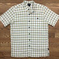 PATAGONIA Plaid Short Sleeve Button Front Shirt Mens MEDIUM Organic Cotton