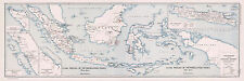 1913 Geology Mining Map Coal Fields of Netherlands India Vintage Wall Art Poster