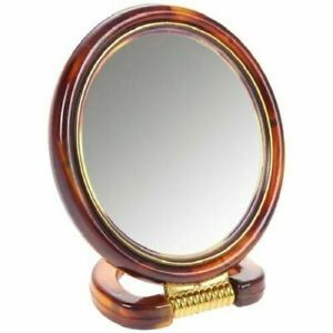 Double Sided Desk Stand Mirror One Side Magnifying One Side Regular, Choose Size