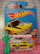 Case A 2016 i Hot Wheels CUSTOM '72 CHEVY LUV #148✰Yellow;ASW ~ all small 5sp✰