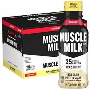 Muscle Milk Genuine Protein Shake, Banana Crème, 25g 14 Fl Oz (Pack of 12)