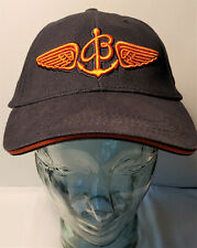 Breitling Watch Ball Cap, Vintage, Classic, Rare, Hat, Navy - Orange