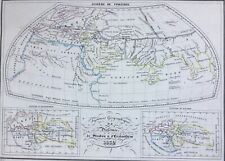 World 1832 Ptolemy Eratosthenes Strabo systems by Malte-Brun, antique map
