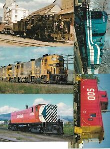Five (5) US Railway Cards New Unused From Railcards California Lot No 9