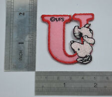 "LETTER U SNOOPY ALPHABET 1 1/2"" 4cm Sew Iron on Cloth Patch Applique Embroidery"