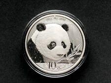 2018 Chinese Silver Panda 30 g 10 Yuan Silver BU Coin in Original Capsule