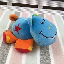 "Tolo Toys Blue Hippo Beanie Soft Toy 7"""