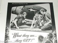1942 Bell & Howell advertisement, Filmo Camera, A-24 Dauntless, pilot training