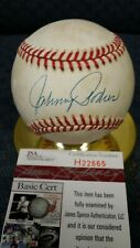 Johnny Padres autographed NL White baseball. JSA authenticated.