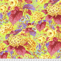 Rose and Hydrangea Citrus Philip Jacobs for Kaffe Fassett Cotton Fabric
