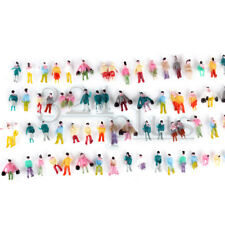 100 pcs Painted Z Scale Gauge People 1/200 Scaled Figures 1:220 Sitting Standing