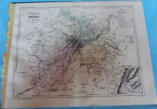 Old Map 1900 France Département Cantal st Flour Mauriac Puy Riom Ydes Salers