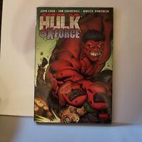 Red HULK Vol 4 VS X-FORCE Hardcover Marvel Comics Wolverine Deadpool Jeph Loeb