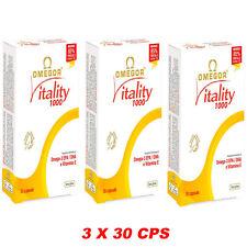 Omegor Vitality 1410 mg Omega 3  Alta Concentrazione 3X30 90 perle con Vit. E