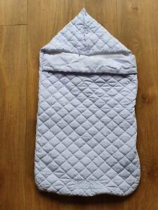 Hugo Boss Blue Baby Boy Overnight Nest Bunting Bag Bedding For Stroller RRP £122