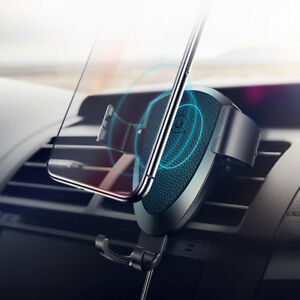 USAMS Qi Wireless Fast Charger Car Holder Gravity For iPhone X Xs Max S9+ Note 9