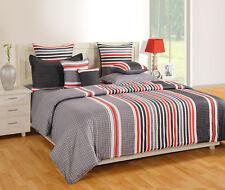 Swayam Grey Colour Geometrical Pattern Cotton 350 GSM Winter Quilt