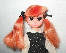 "Vintage Doll SUSIE SAD EYES Red Orange Hair 8"" Big-Eyed Pre-Blythe Gothic 1960's"