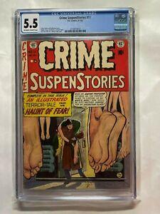 Crime Suspenstories #11 CGC 5.5 Universal EC Comics 1952 Frozen Bodies Cover