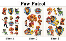3 Sheet Paw Patrol Dog Temporary Tattoo 97x138mm Kids Gift Party Bag Favor Prize
